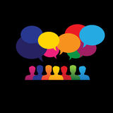 Online people icons in social network & media - vector graphic Royalty Free Stock Images