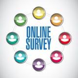 Online people survey illustration Stock Photo