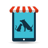 Online pet shop and dog and  veterinary Stock Photography