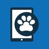 Online pet shop and paw Stock Photo