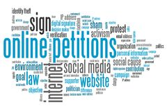 Online petitions Stock Image
