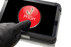 Online-phishing begrepp Royaltyfria Bilder