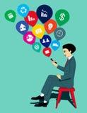 Online Phone Stock Image