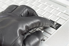 Online piracy concept Stock Images