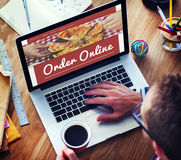 Online pizzy Doręczeniowej usługa pojęcie Obrazy Stock