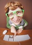 Online plaudernd stockfotos