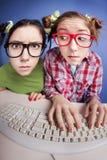 Online plaudernd Stockbild