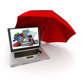 Online play safe Royalty Free Stock Photography