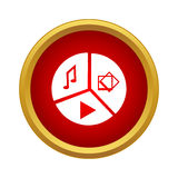 Online player icon, simple style Royalty Free Stock Images