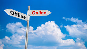 Online pointer Royalty Free Stock Photo