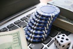 Online-poker Arkivfoton