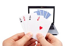 Online poker Royalty Free Stock Photo