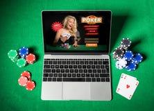 Online-poker royaltyfria bilder