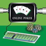 Online poker Royalty Free Stock Photos