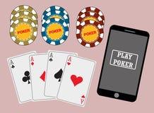 Online poker Stock Photos