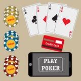 Online poker Royalty Free Stock Photo