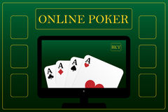 Online poker concept Stock Photos