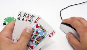 online-poker för draw 5 royaltyfria bilder