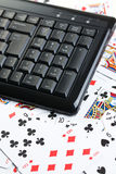 Online poker gambling Royalty Free Stock Image