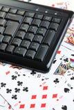 Online poker gambling Royalty Free Stock Image