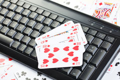 Online poker gambling Royalty Free Stock Photo