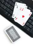 Online poker gambling Royalty Free Stock Images