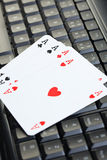 Online poker gambling stock photography