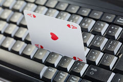 Online poker gambling Stock Photo