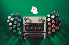 Online poker game Stock Photography