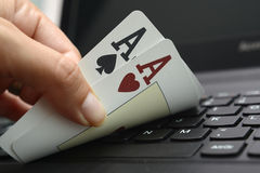 Online poker Royalty Free Stock Image