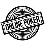 Online poker stamp Royalty Free Stock Photography