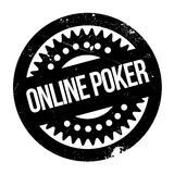 Online poker stamp Stock Photography