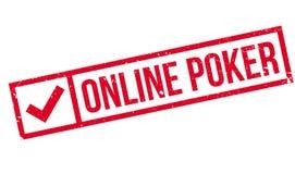 Online poker stamp stock photo