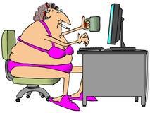 Online Praatje Stock Afbeelding