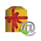 Online present concept illustration. Over a white background Royalty Free Stock Photos