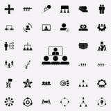 online prezentacja kolega ikona Prac zespołowych ikon ogólnoludzki ustawiający dla sieci i wiszącej ozdoby ilustracja wektor