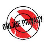 Online Privacy rubber stamp Stock Photography