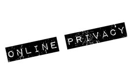 Online Privacy rubber stamp Royalty Free Stock Photo