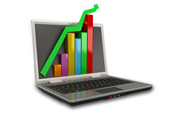 Online Profit Growth Stock Photo