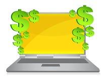Online profits Stock Image