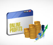 Online profits concept illustration design Royalty Free Stock Photo