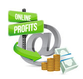 Online profits sign concept illustration Royalty Free Stock Photos