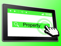 Online Property Means World Wide Web And House Royalty Free Stock Photo