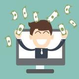 Online przedsiębiorca - Pomyślny biznes royalty ilustracja