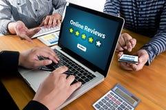 Online przeglądów Szacunkowy czas dla przeglądowej Wizytacyjnej oceny Fotografia Stock
