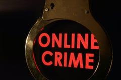Online przestępstwo zdjęcie stock