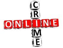 Online przestępstwa Crossword Obraz Stock