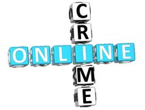 Online przestępstwa Crossword Zdjęcia Royalty Free