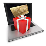 Online purchase Royalty Free Stock Photo