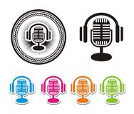 Online radio icons Royalty Free Stock Photo